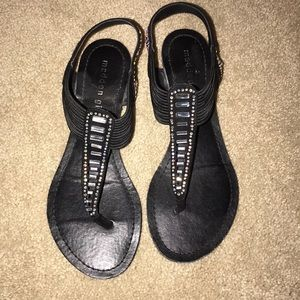 Madden Girl black sparkly sandals